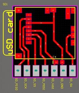 Micro SD breakout board PCB