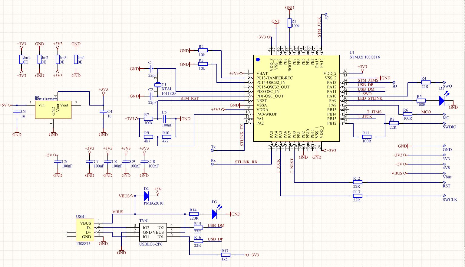 St Link V2 On A Single Sided Diy Pcb on camera circuit board diagram