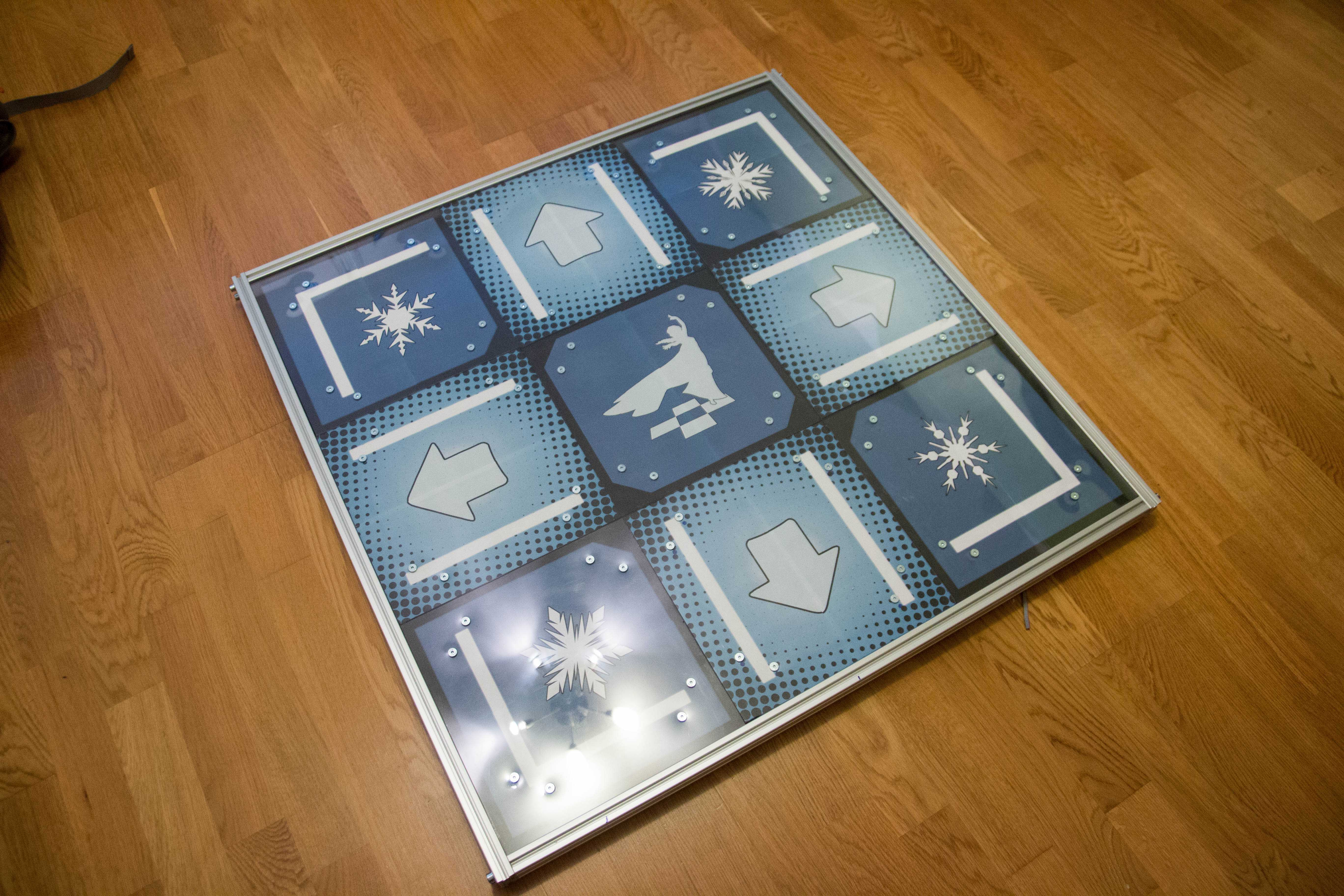 Metal Dance Pad With Usb Interface Customer Project Poblog Home Circuit Board Square Frame Dace Art