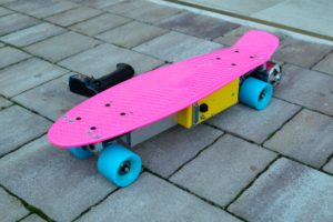 Finished electric penny board