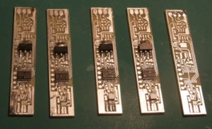 New revision of Si7013 sensor module - machined boards