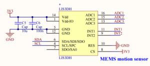LIS3DH motion sensor