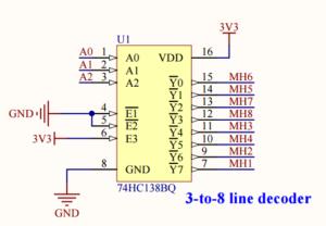 3 to 8 line decoder