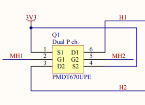Dual P channel MOSFET