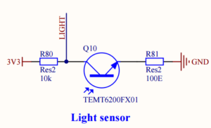 Phototransistor as light sensor