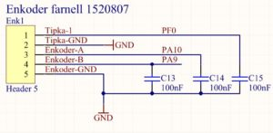 Rotary encoder connection diagram