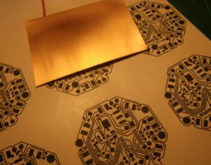 Preparation for etching -- transferring toner to the pcb