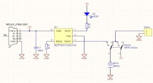Simple USB battery charger - Schematic